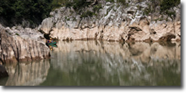 Navegando río arriba
