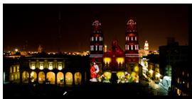 Fiesta de luces en San Luis Potosí