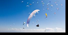 Parapente volador